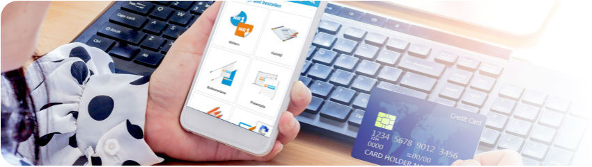 Online bestellen en betalen van reclame en drukwerk