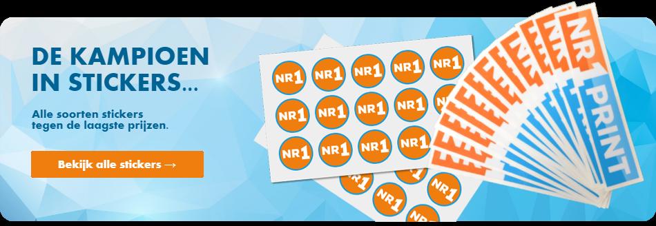 Goedkoop online alle soorten stickers drukken en bestellen.