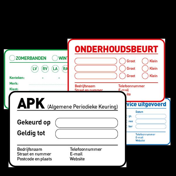 Goedkoop service- en onderhoudsstickers bestellen