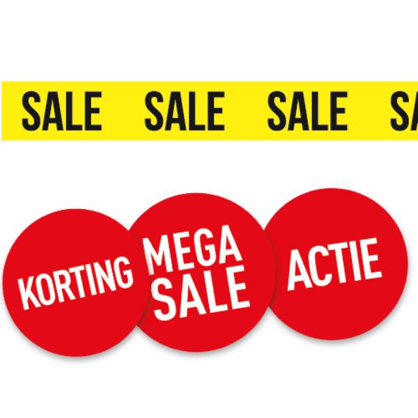Goedkoop winkelstickers, etalagestickers en retailstickers drukken & bestellen