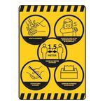 Coronasticker met regels & voorschriften