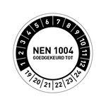 Goedkoop NEN 1004 goedgekeurd stickers bestellen