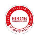 Goedkoop NEN 2484 goedgekeurd stickers bestellen
