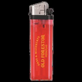Rode  transparante aanstekers met logo opdruk