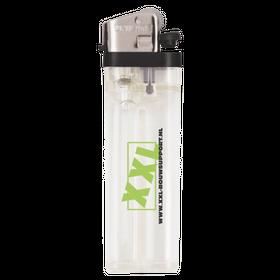 Wit transparante aanstekers met logo opdruk