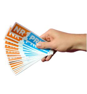 Promotionele stickers met logo bedrukken en kopen