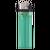 Donkergroene  transparante aanstekers met logo bedrukken